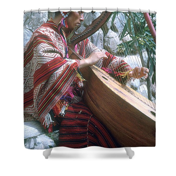 Lute Player Shower Curtain by Photo Researchers, Inc.