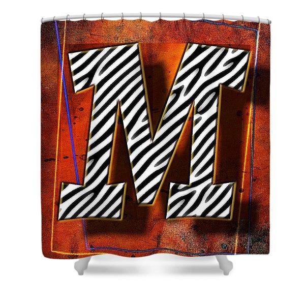 M Shower Curtain by Mauro Celotti