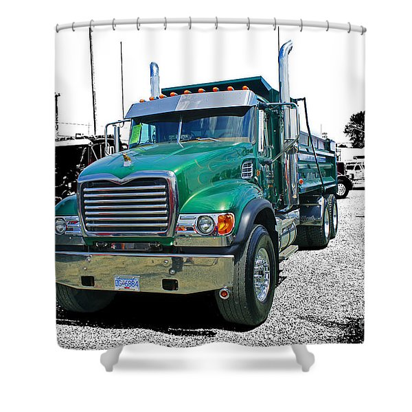 Mack Abstract Shower Curtain by Randy Harris