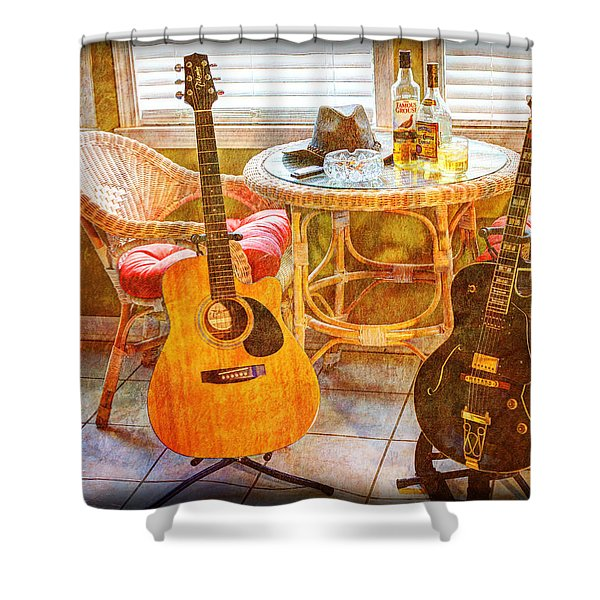 Making Music 004 Shower Curtain by Barry Jones