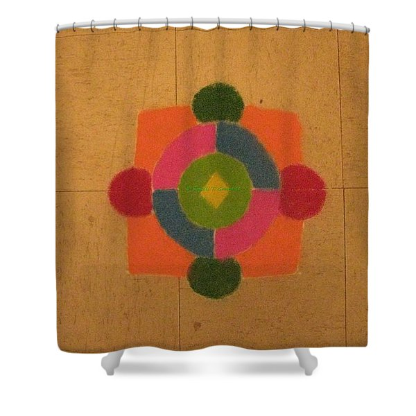 Mandal rangoli Shower Curtain by Sonali Gangane