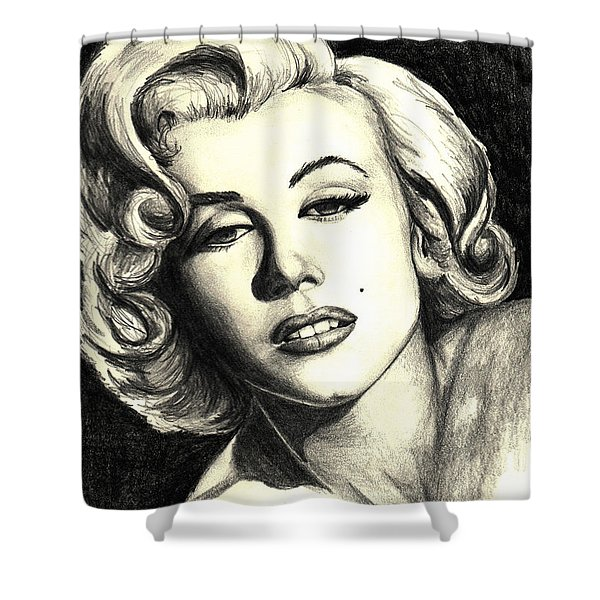 Marilyn Monroe Shower Curtain by Debbie DeWitt