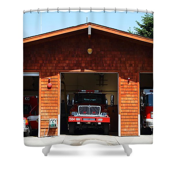 Marin County Fire Department . Point Reyes California . 7D15920 Shower Curtain by Wingsdomain Art and Photography