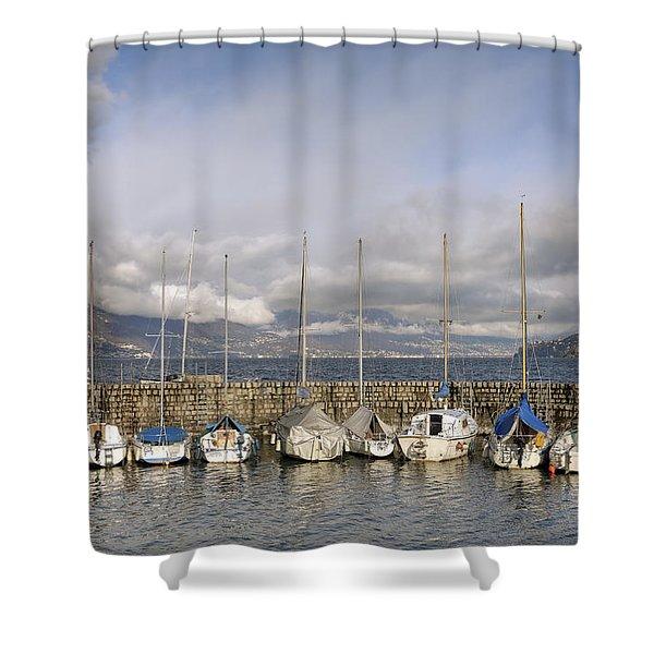 Marina Cannobio Shower Curtain by Joana Kruse