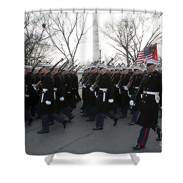 Marines Participate In The 2009 Shower Curtain by Stocktrek Images