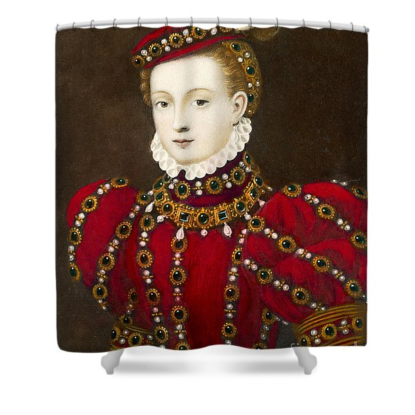 Mary Queen Of Scots Shower Curtain by Mary Evans Picture Library and Photo Researchers
