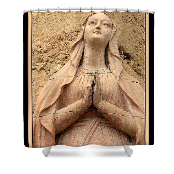 Mary's Prayers Shower Curtain by Carol Groenen