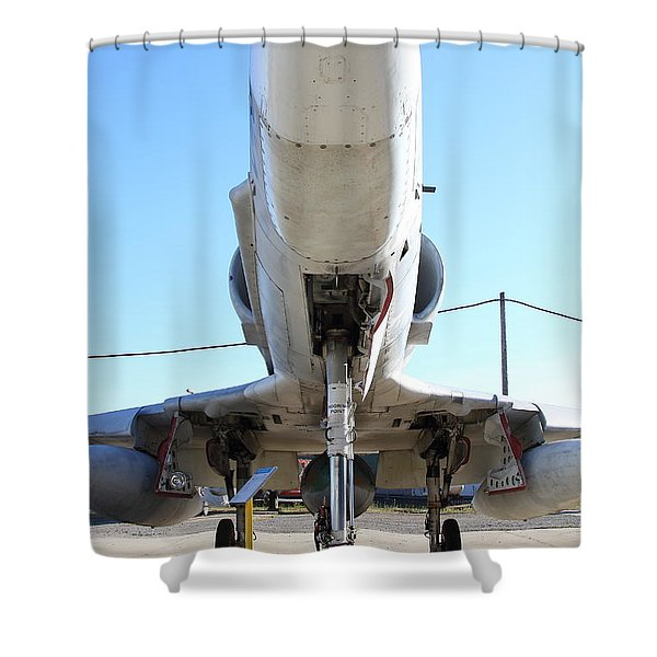 McDonnell Douglas TA-4J Skyhawk Aircraft Fighter Plane . 7D11202 Shower Curtain by Wingsdomain Art and Photography