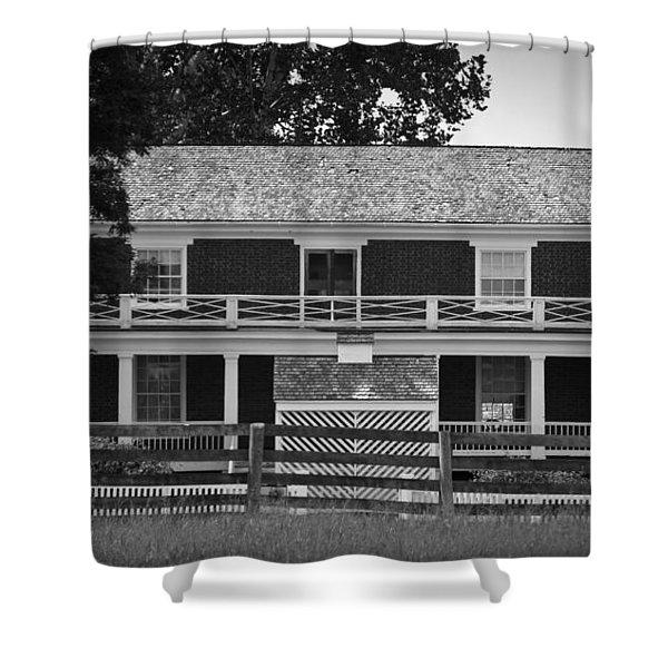 McLean House BW Appomattox Virgnia Shower Curtain by Teresa Mucha
