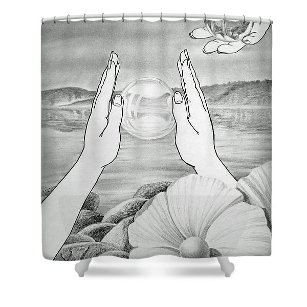 Meditation Shower Curtain by Irina Sztukowski
