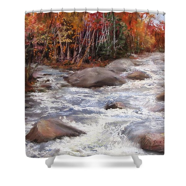 Meeting Of The Waters Shower Curtain by Jack Skinner