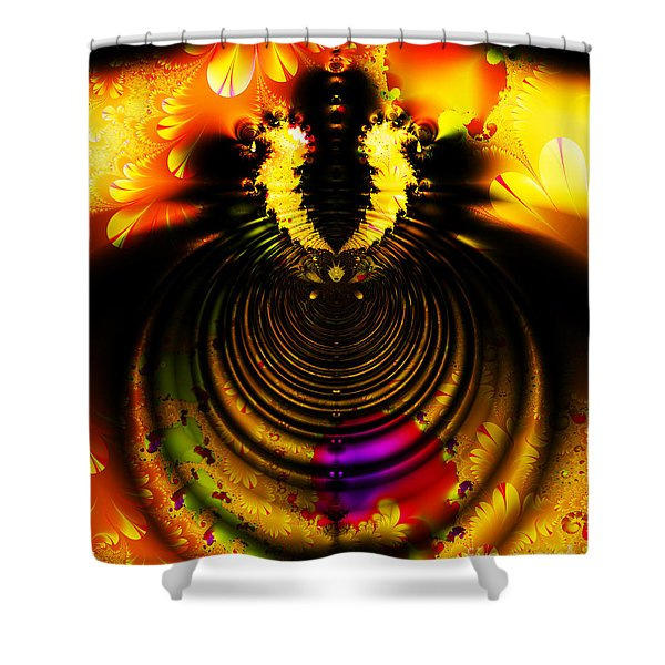 Melting Pot . Gold . S8a.S11 Shower Curtain by Wingsdomain Art and Photography