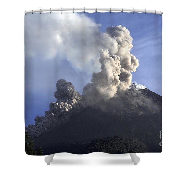 Merapi Eruption, Java Island, Indonesia Shower Curtain by Martin Rietze