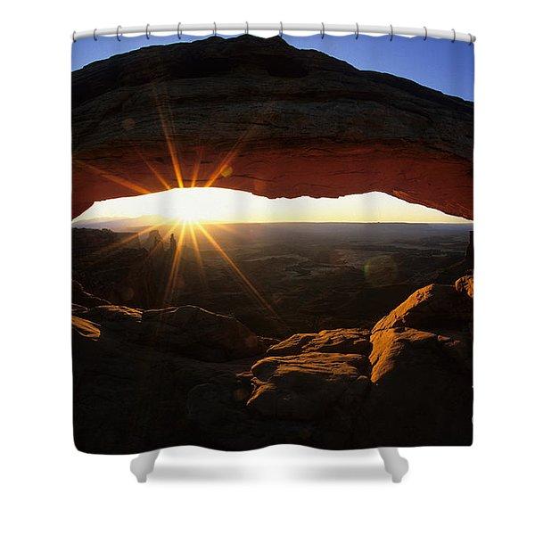 Mesa Arch Sunrise Shower Curtain by Bob Christopher