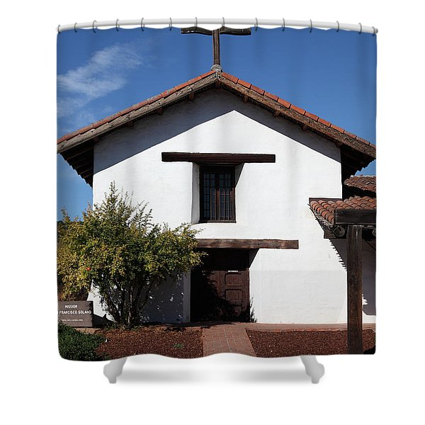 Mission Francisco Solano - Downtown Sonoma California - 5D19296 Shower Curtain by Wingsdomain Art and Photography
