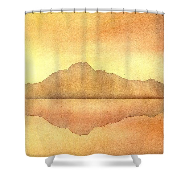Misty Sunset Shower Curtain by Hakon Soreide
