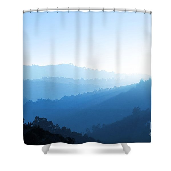 Misty Valley Shower Curtain by Carlos Caetano