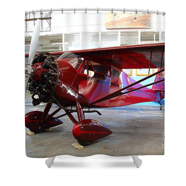 Monocoupe 110 . 7D11149 Shower Curtain by Wingsdomain Art and Photography