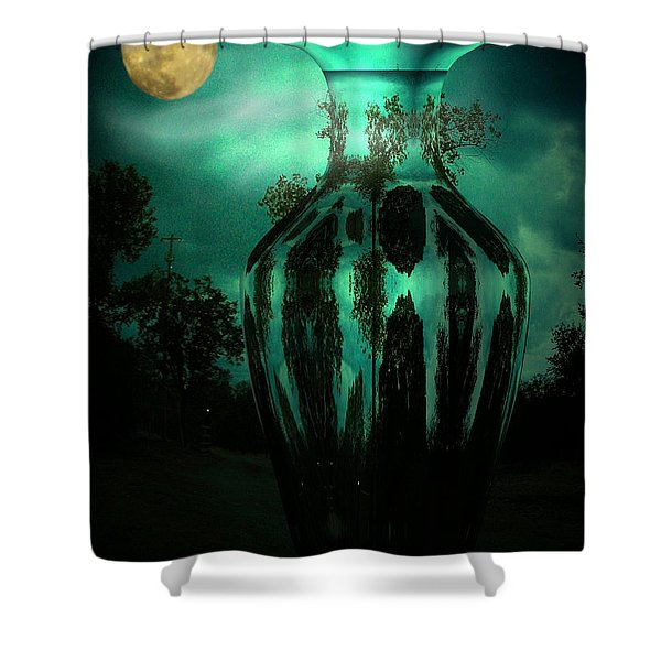 Moonglow Shower Curtain by Joyce Dickens