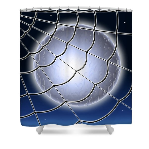 Moonlit Web Shower Curtain by Stephen Younts