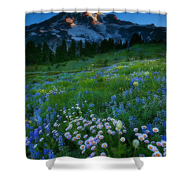 Morning Majesty Shower Curtain by Mike  Dawson