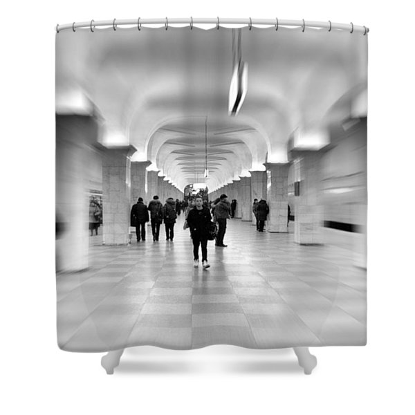 moscow underground Shower Curtain by Stylianos Kleanthous