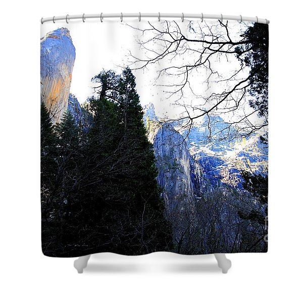 Mountains of Yosemite . 7D6213 Shower Curtain by Wingsdomain Art and Photography