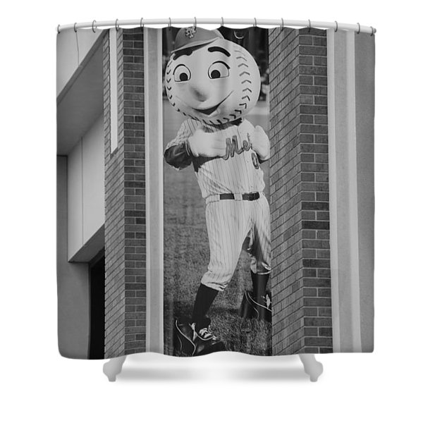 MR MET in BLACK AND WHITE Shower Curtain by ROB HANS