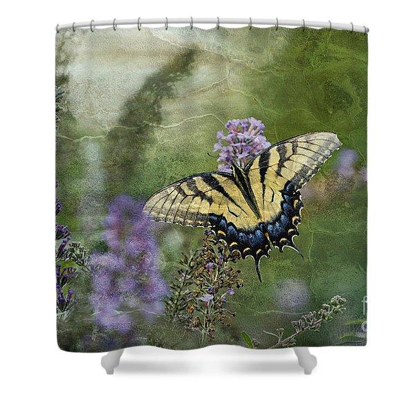 My Mothers Garden - D007041 Shower Curtain by Daniel Dempster