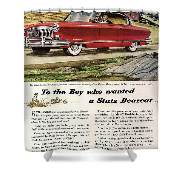 Nash Ambassador 1953 Shower Curtain by Nomad Art And  Design
