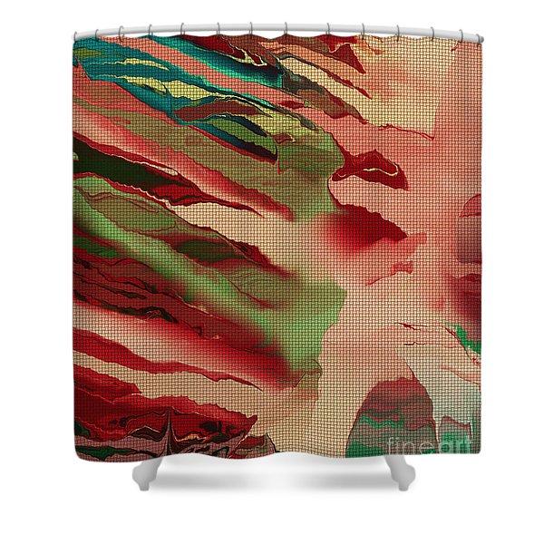 Native Abstract Weave Shower Curtain by Deborah Benoit