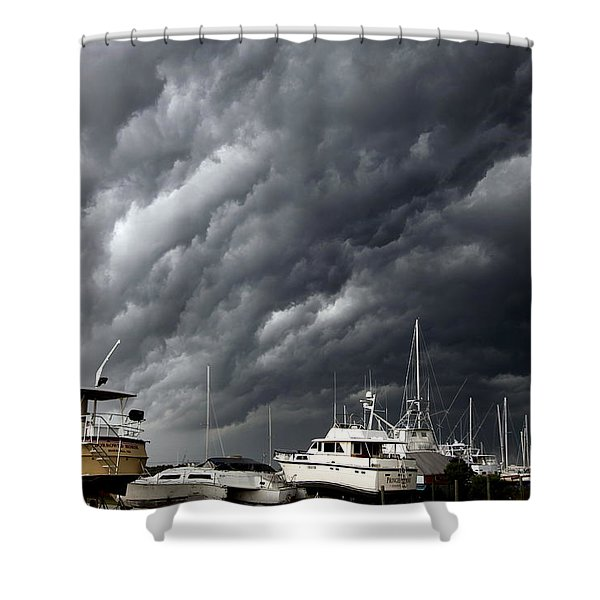 Natures Fury Shower Curtain by KAREN WILES