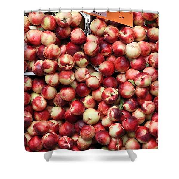 Nectarines - 5d17905 Shower Curtain by Wingsdomain Art and Photography