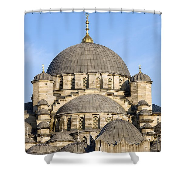 New Mosque in Istanbul Shower Curtain by Artur Bogacki