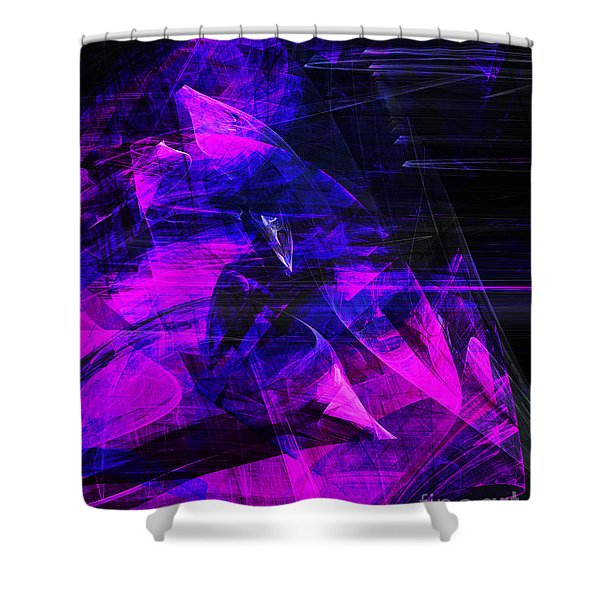 Night Rider . A120423.936.693 Shower Curtain by Wingsdomain Art and Photography