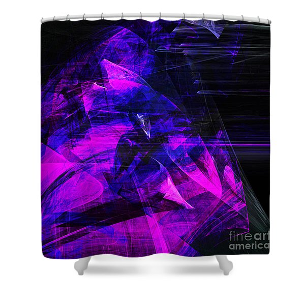 Night Rider . Square . A120423.936.693 Shower Curtain by Wingsdomain Art and Photography