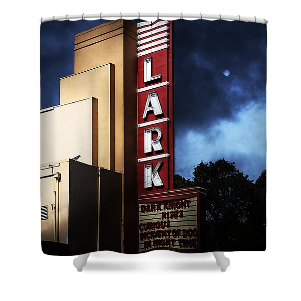 Nightfall At The Lark - Larkspur California - 5d18482 Shower Curtain by Wingsdomain Art and Photography