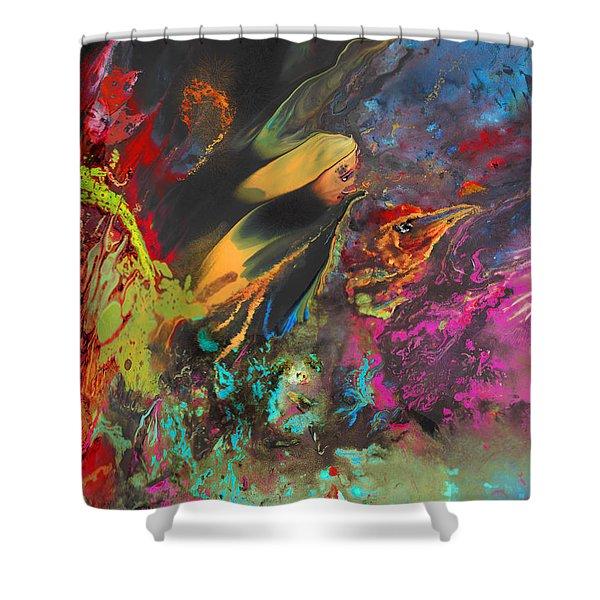 Nightmare Shower Curtain by Miki De Goodaboom