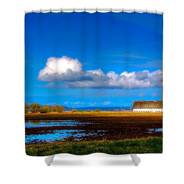 Nisqually Wildlife Refuge P35 Shower Curtain by David Patterson