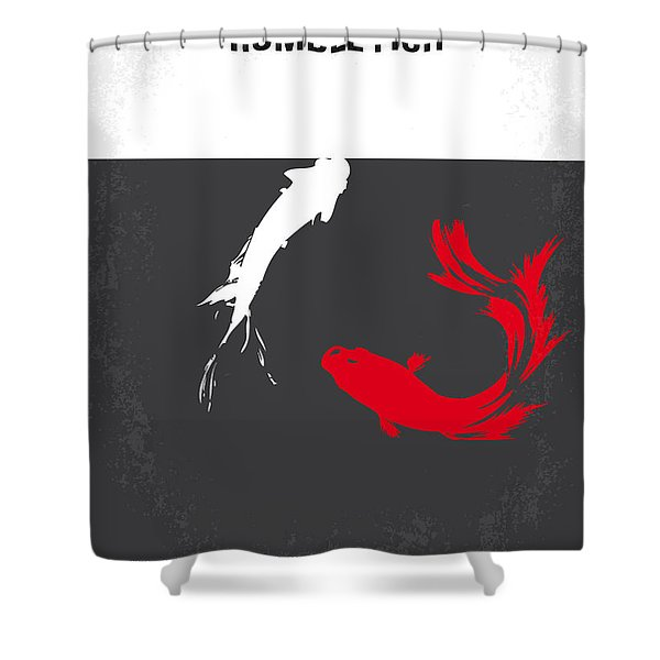 No073 My Rumble fish minimal movie poster Shower Curtain by Chungkong Art
