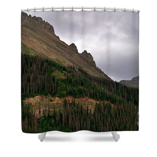 Nokhu Crags Colorado Shower Curtain by Michael Kirsh