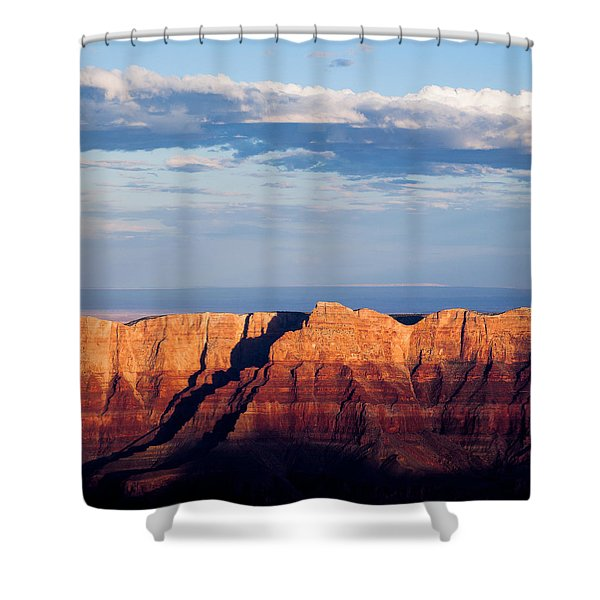 North Rim At Sunset Shower Curtain by Dave Bowman
