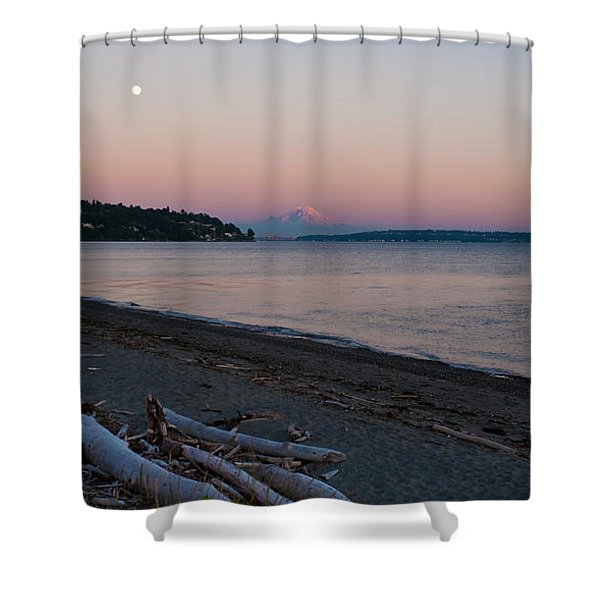 Northwest Evening Shower Curtain by Mike Reid