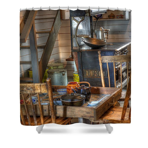 Nostalgia Country Kitchen Shower Curtain by Bob Christopher