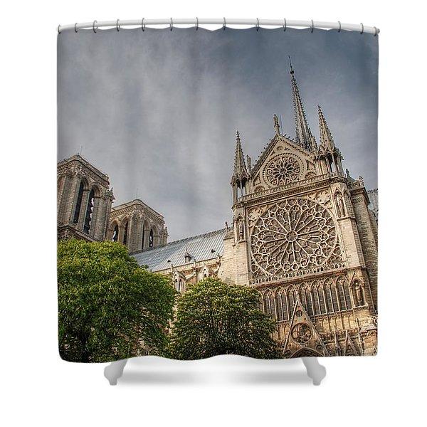 Notre Dame De Paris Shower Curtain by Jennifer Lyon