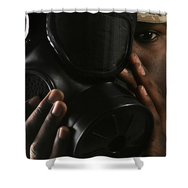 Nuclear, Biological, And Chemical Shower Curtain by Stocktrek Images