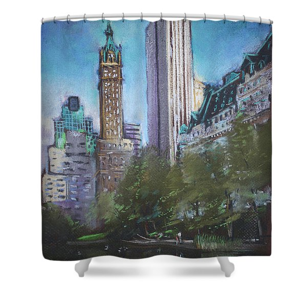 NYC Central Park 2 Shower Curtain by Ylli Haruni