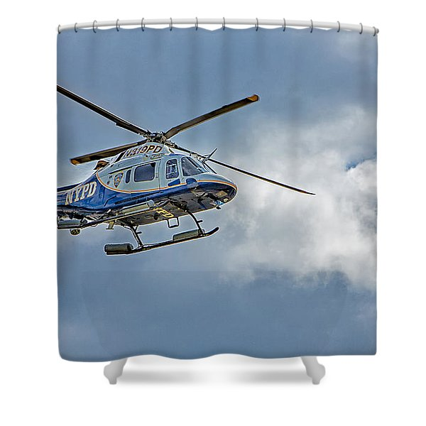NYPD Shower Curtain by Susan Candelario