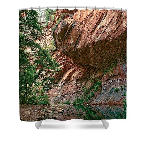 Oak Creek Canyon Walls Shower Curtain by Dave Dilli