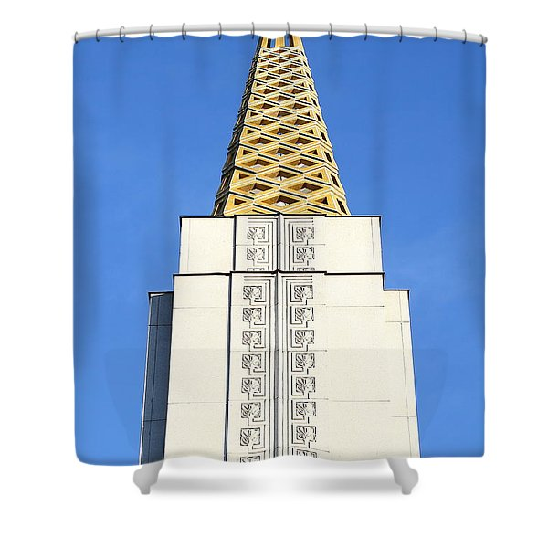 Oakland California Temple . The Church of Jesus Christ of Latter-Day Saints . 7D11339 Shower Curtain by Wingsdomain Art and Photography
